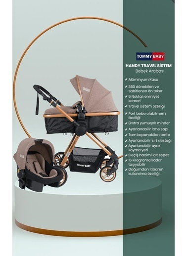 Tommy Baby Handytravel (Seyahat) Sistem Bebek Arabası Kahve